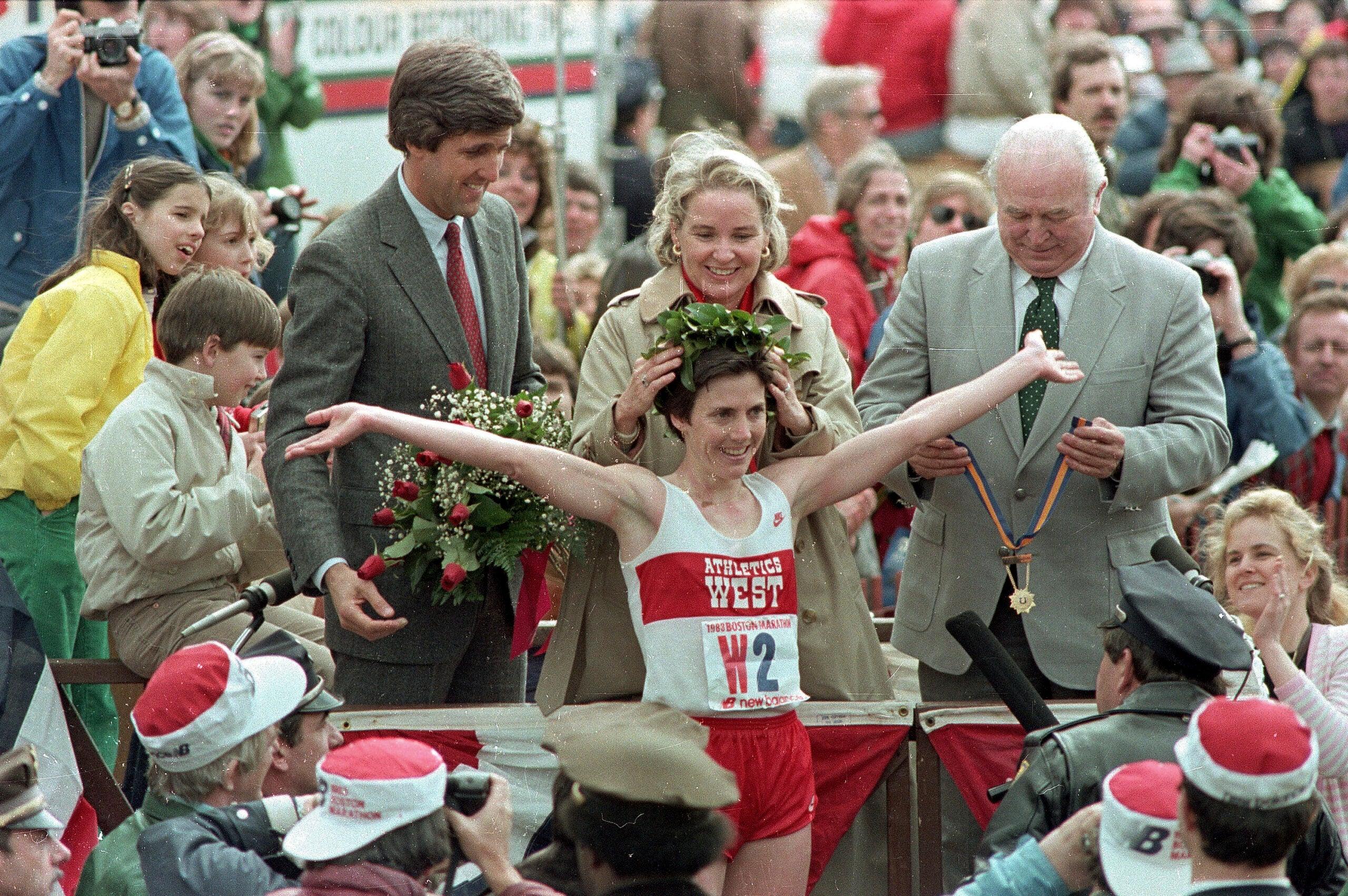 Joan Benoit Samuelson Boston Marathon John Kerry