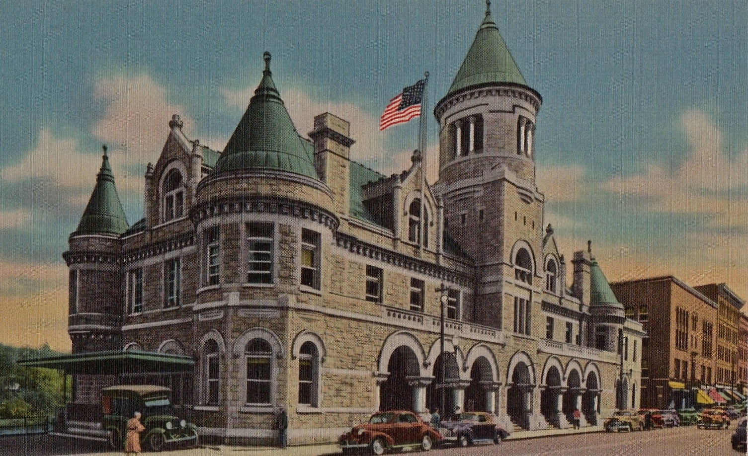 The United States Post Office in Augusta, Maine