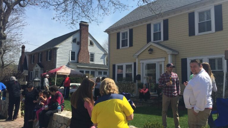Alison Foley hosts an annual marathon party at her house in Newton, just yards from the start of the dreaded Newton Hills.