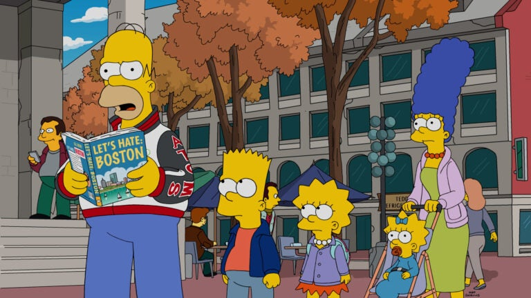 The Simpsons visit Boston in an episode that airs October 9.