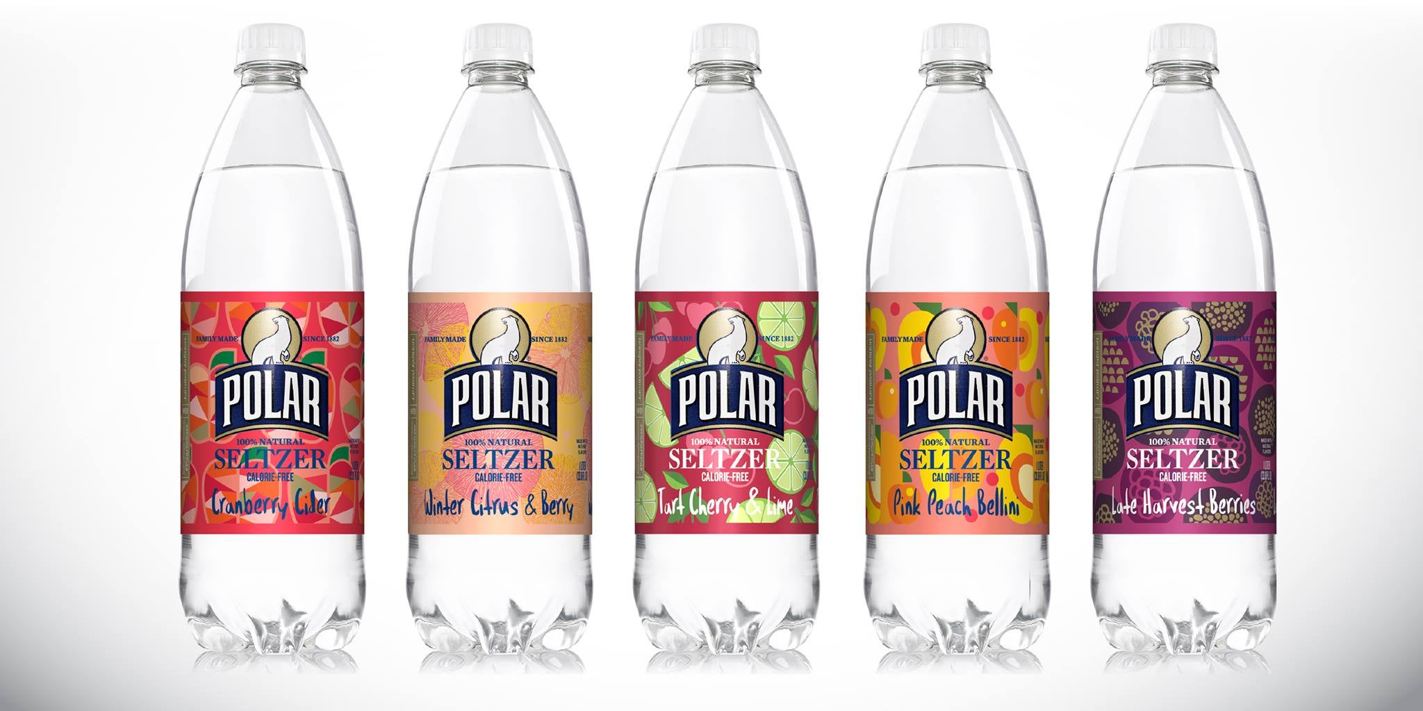 The newest fall and winter flavors released by Polar Seltzer.