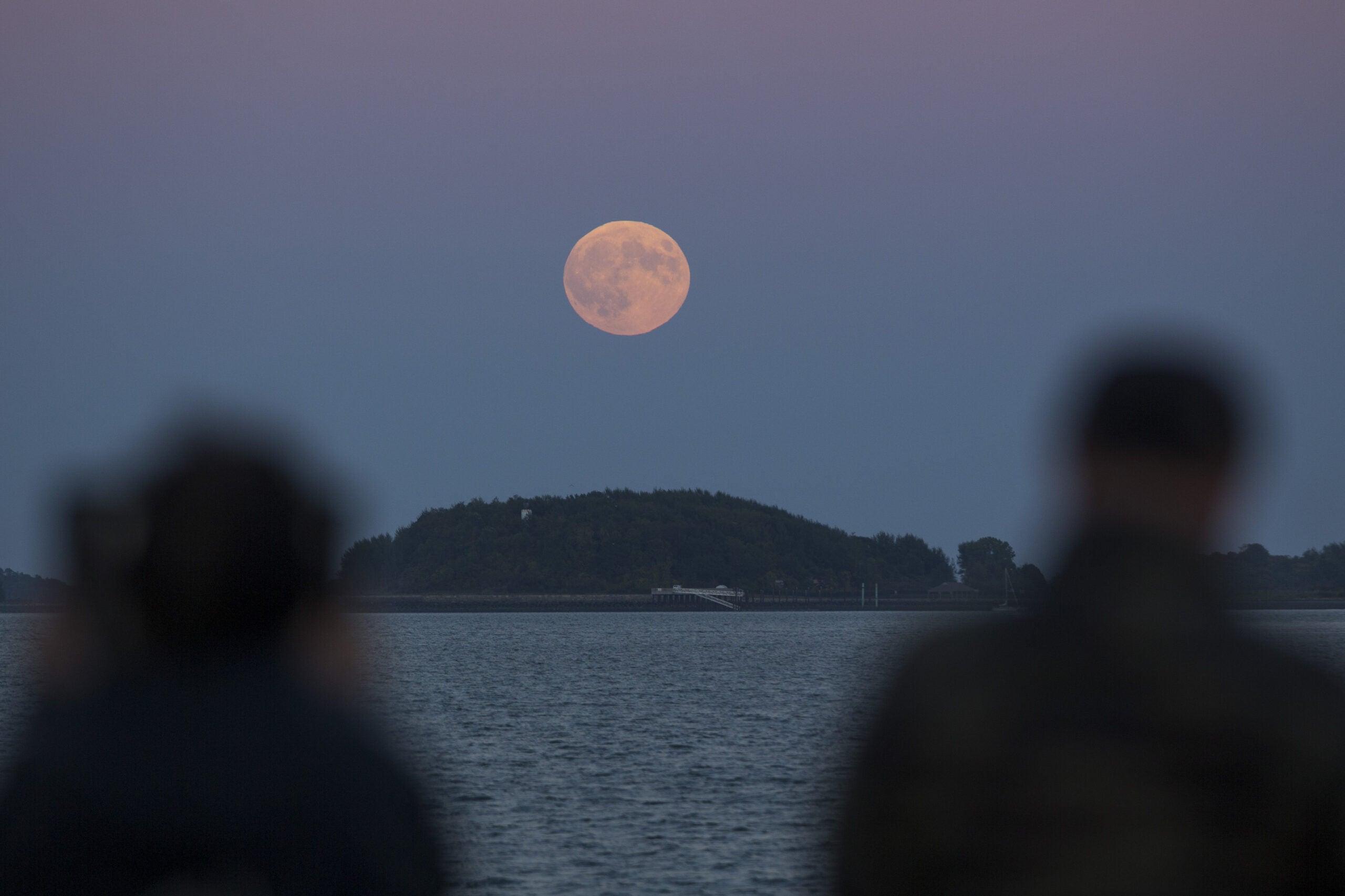 Supermoon Illuminates Sky Above New England