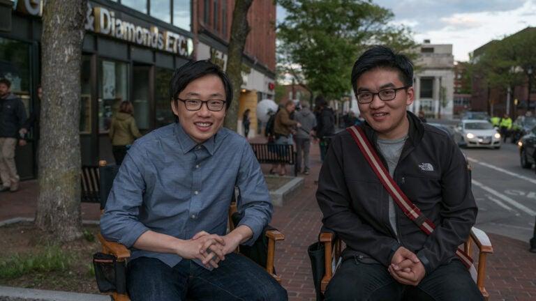 """Jimmy O. Yang and Dun """"Danny"""" Meng."""