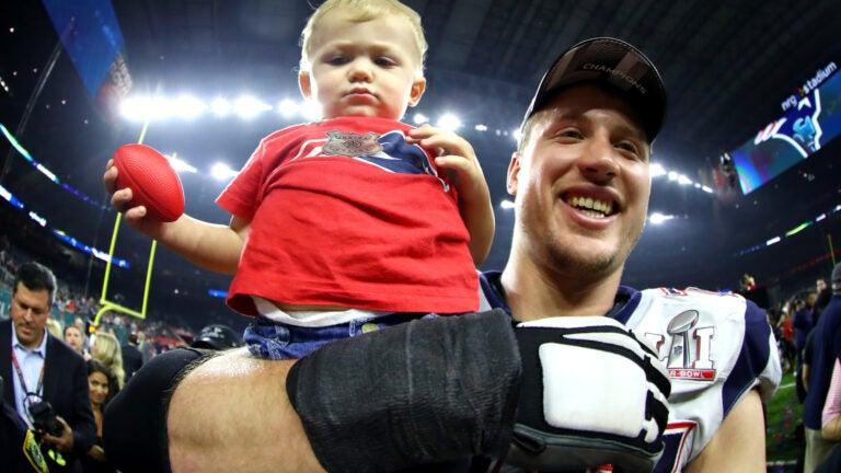 Nate Solder son Hudson Patriots Super Bowl LI.