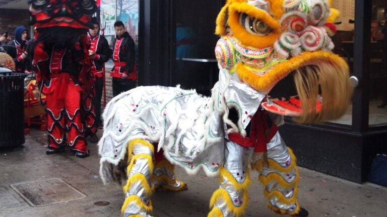 The Lion Dance in Chinatown