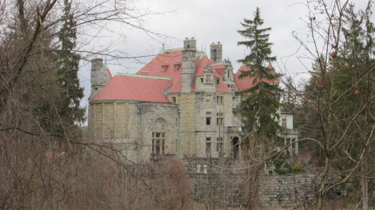 Searles Castle (Great Barrington): Edward Francis Searles, an interior decorator, met Mary Hopkins, whose late husband had been part owner of the Southern Pacific Railroad and left her with millions of dollars, according to the castle's website. Hopkins had Searles work on her home in Massachusetts, which at the time was called Kellogg Terrace, and they were later married. The once private home is now the John Dewey Academy. (Correction: The above castle is located in Great Barrington, not Windham, New Hampshire as indicated in a previous version of this article. The Searles' owned a different castle in Windham.)