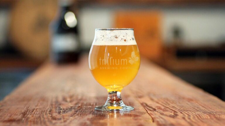 A beer from Trillium Brewing Company.