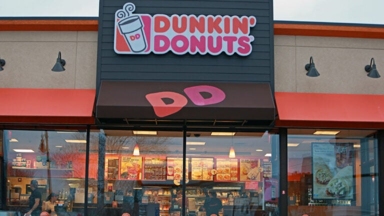 A Dunkin Donuts shop in Dorchester