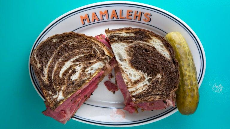 The pastrami sandwich at Mamaleh's