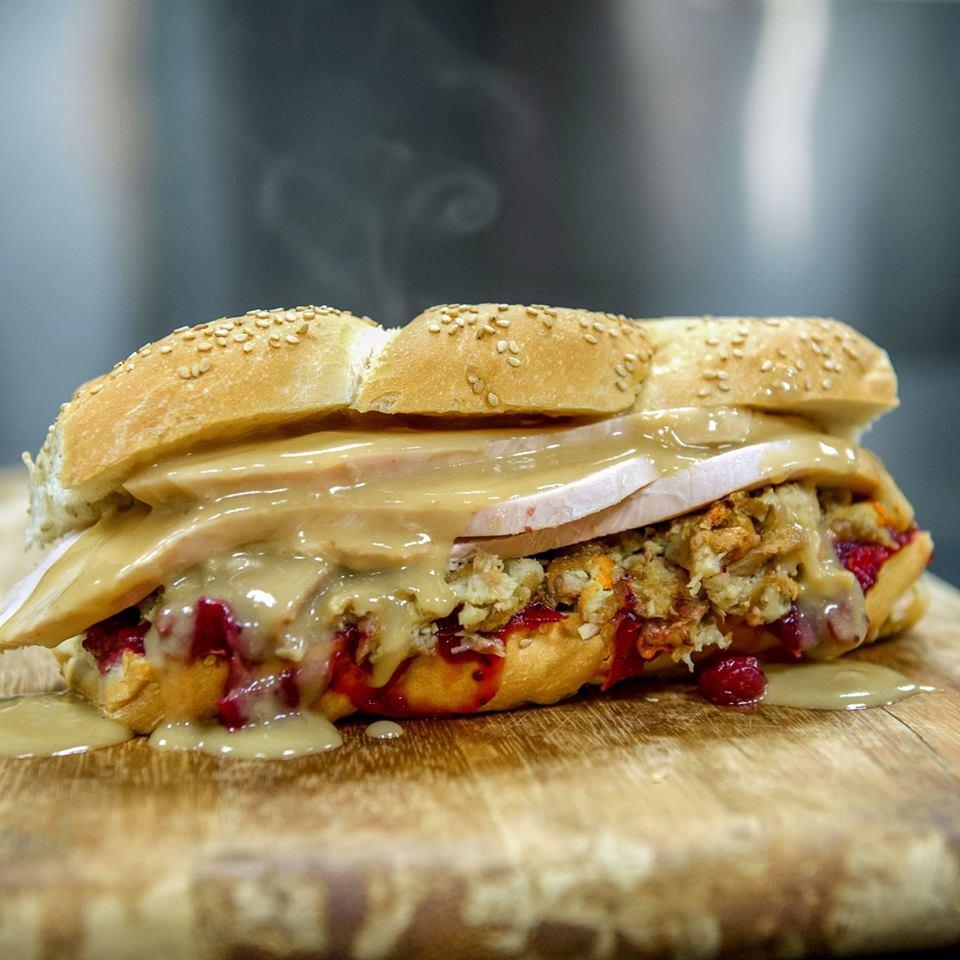 Mike's Famous Pilgrim sandwich