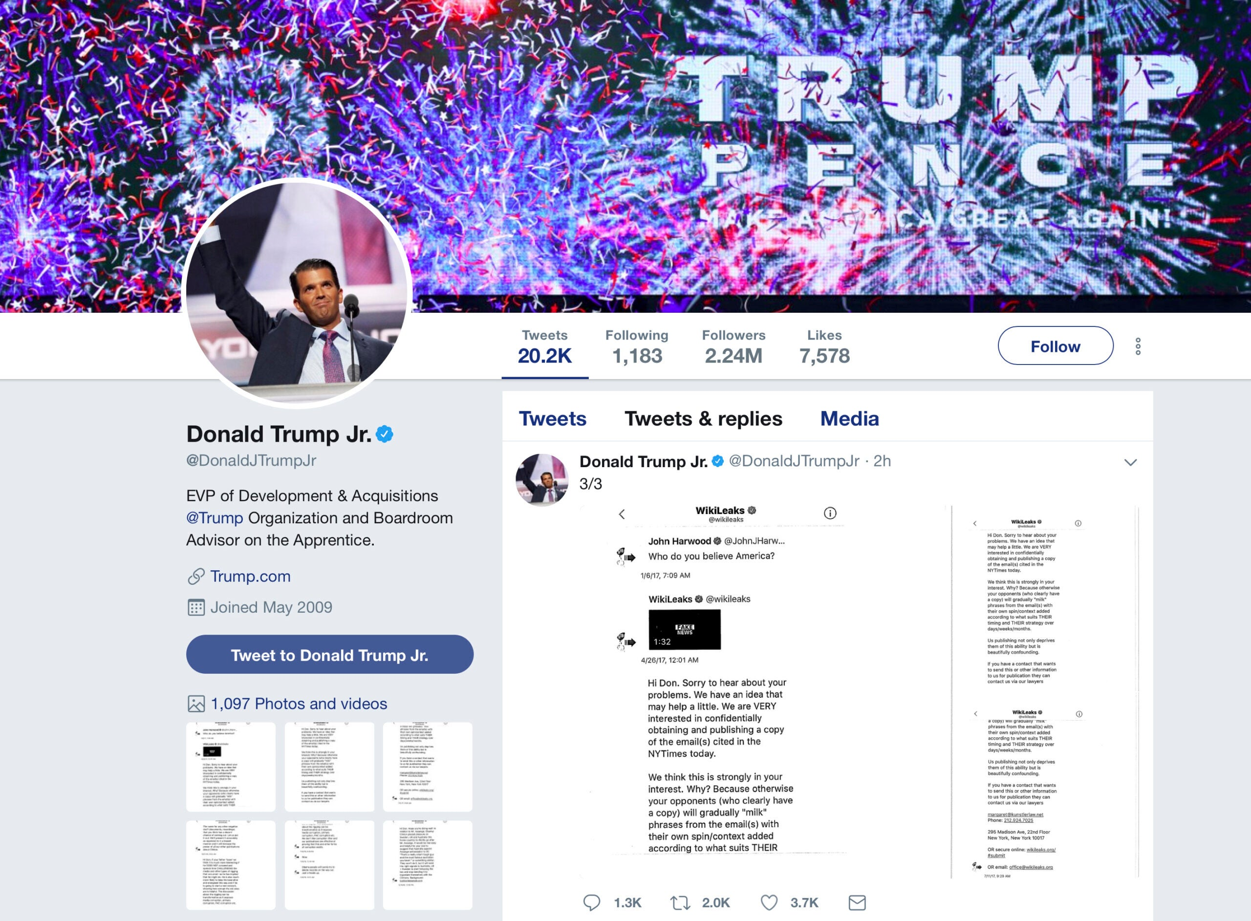 Donald Trump Jr.'s Twitter