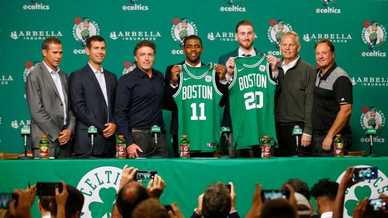 Kyrie Irving Gordon Hayward Boston Celtics