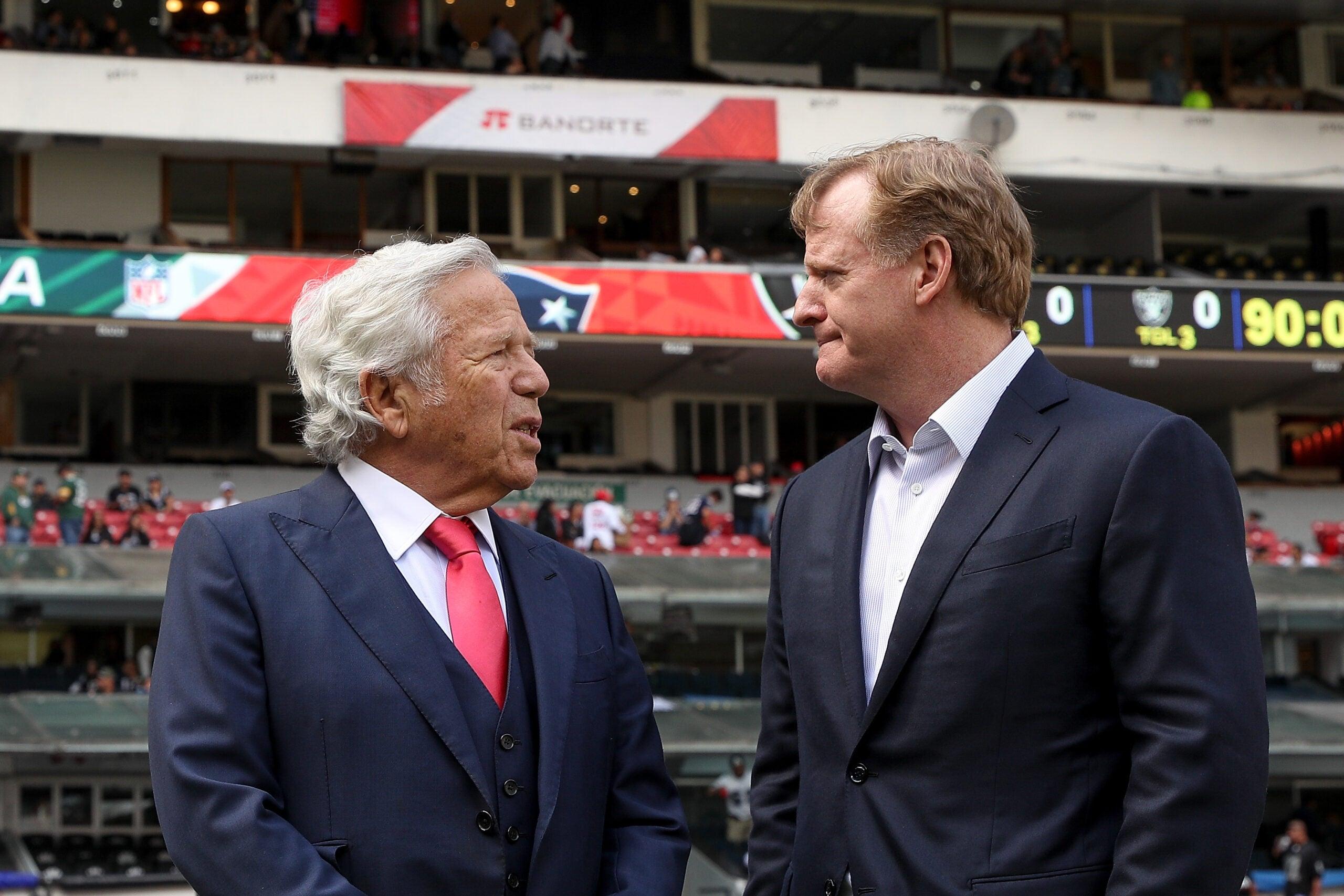 Robert Kraft Roger Goodell NFL