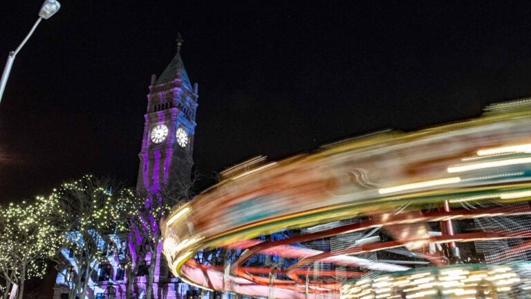 The carousel at the Lowell Winterfest