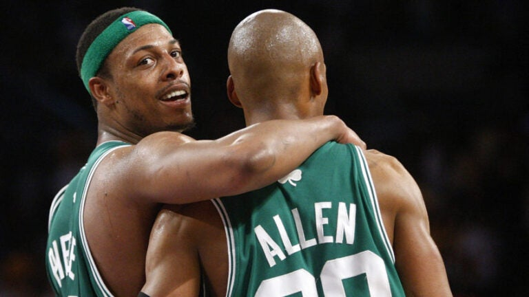 Paul Pierce and Ray Allen in 2008.