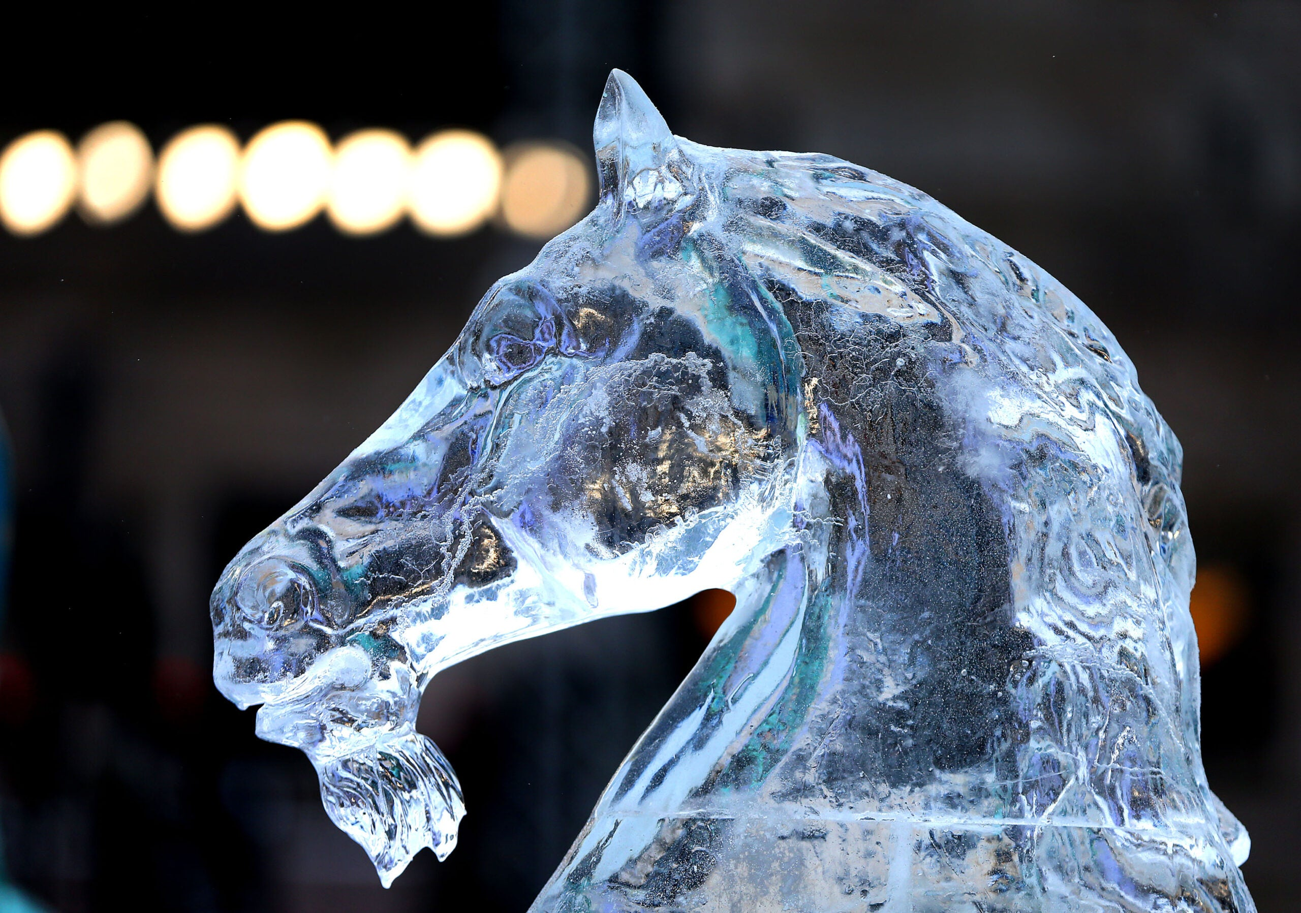Ice sculpture for Boston's First Night celebration