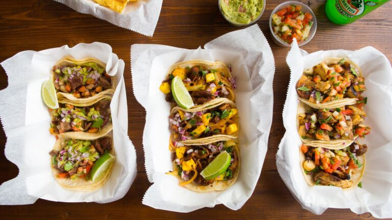 Tacos from Anna's Taqueria.
