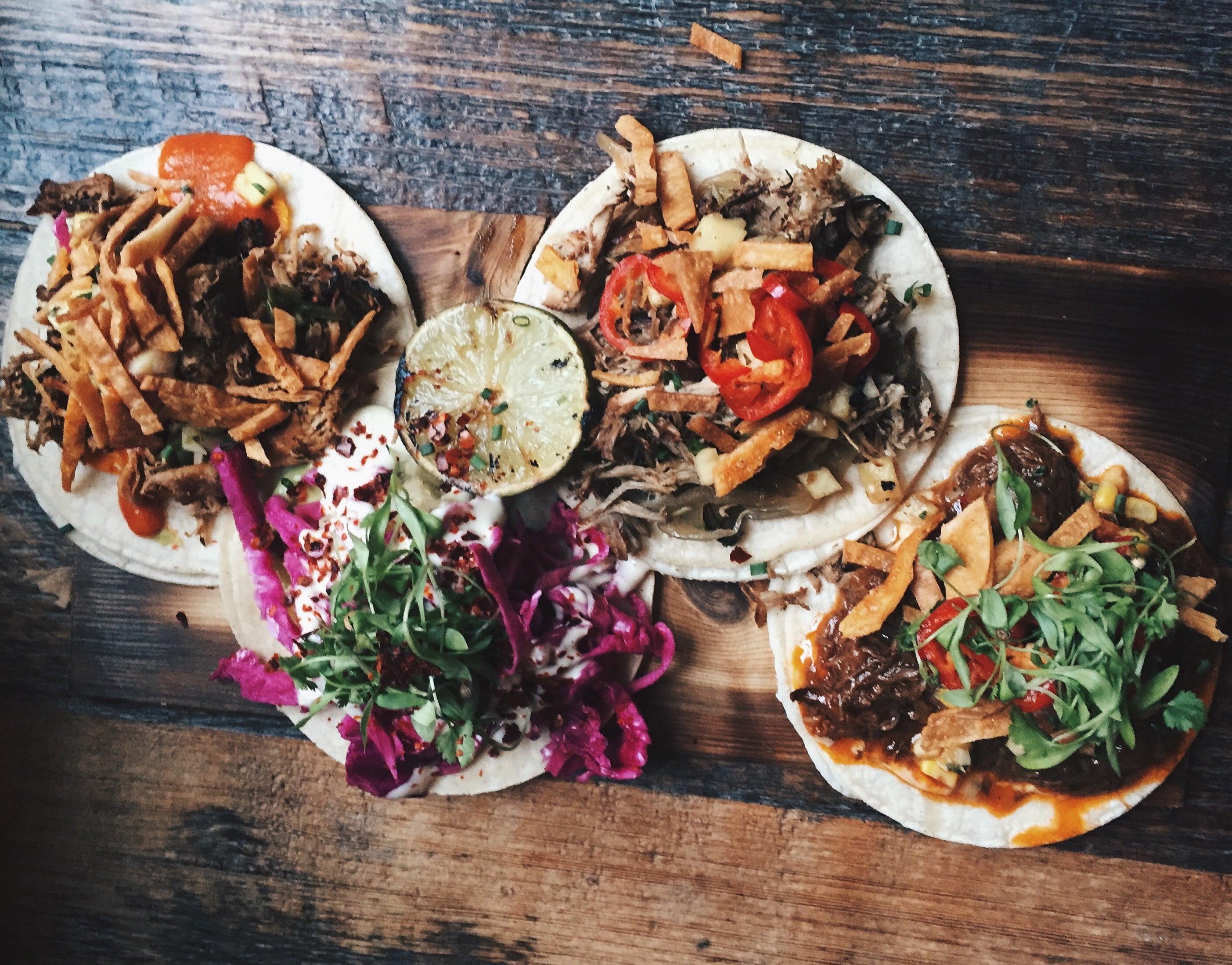 Tacos at Loco Taqueria & Oyster Bar.