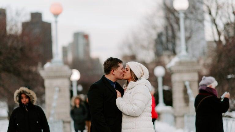 Proposal in Boston Public Garden