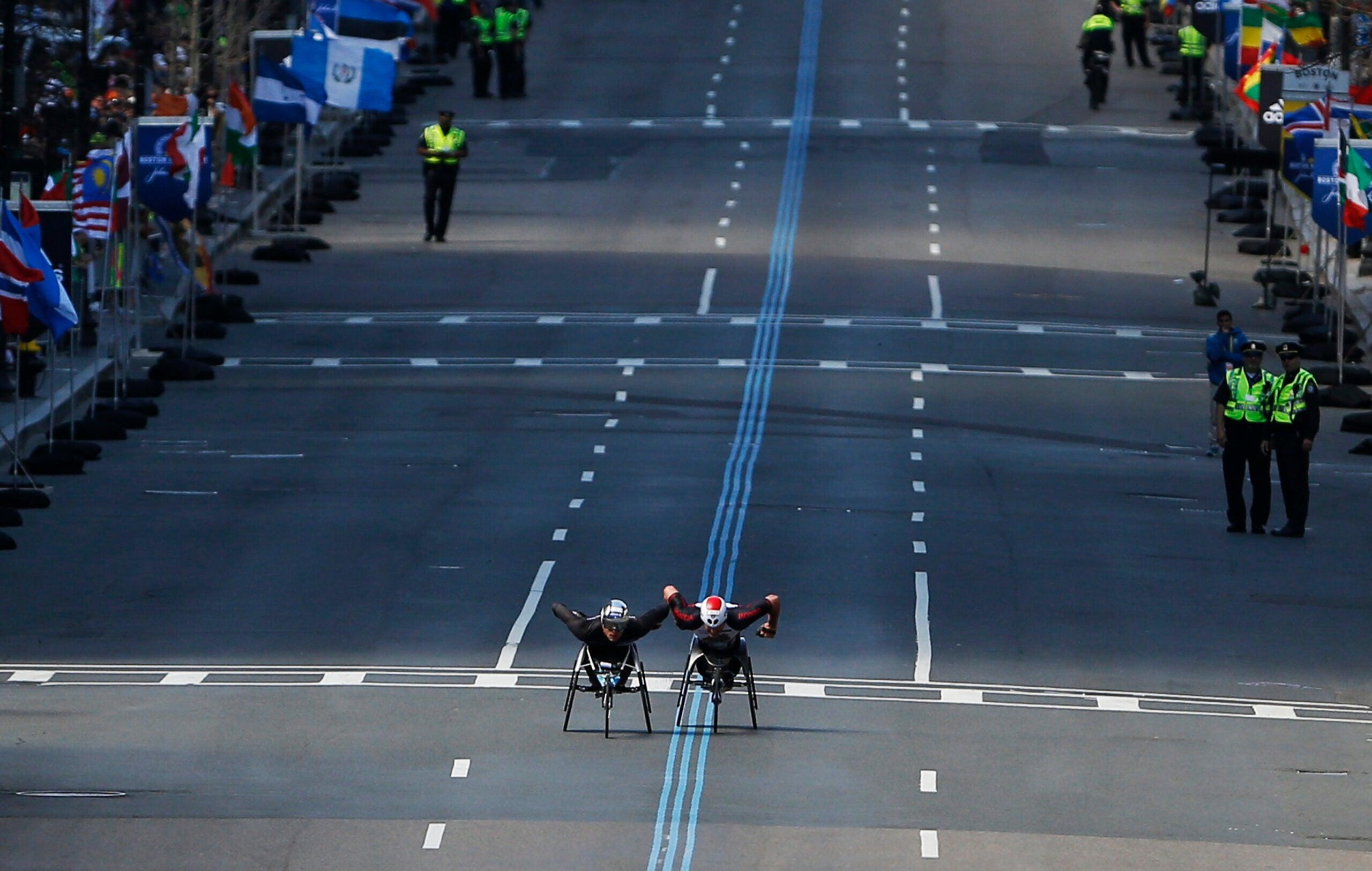 Boylston Street during the Boston Marathon