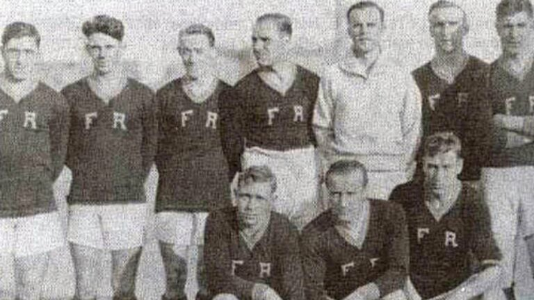 Fall River's soccer team during the 1920s.