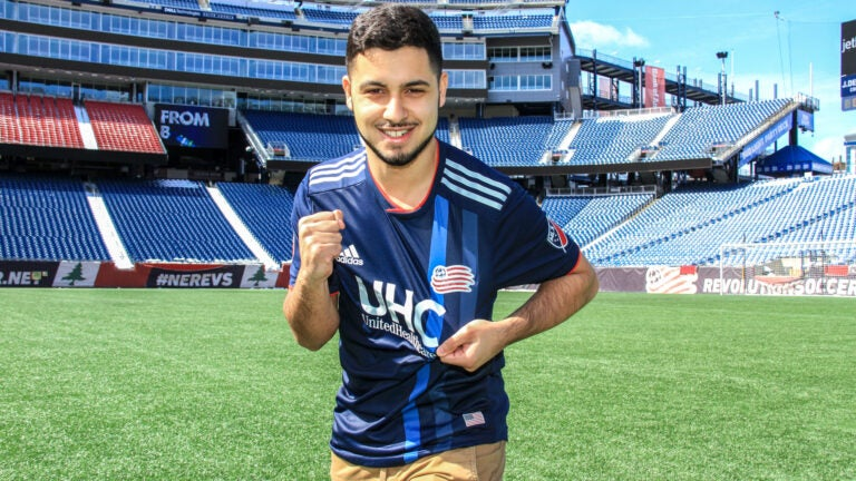 John Oliveira, the first eSports competitor to officially represent the New England Revolution in the FIFA video game.