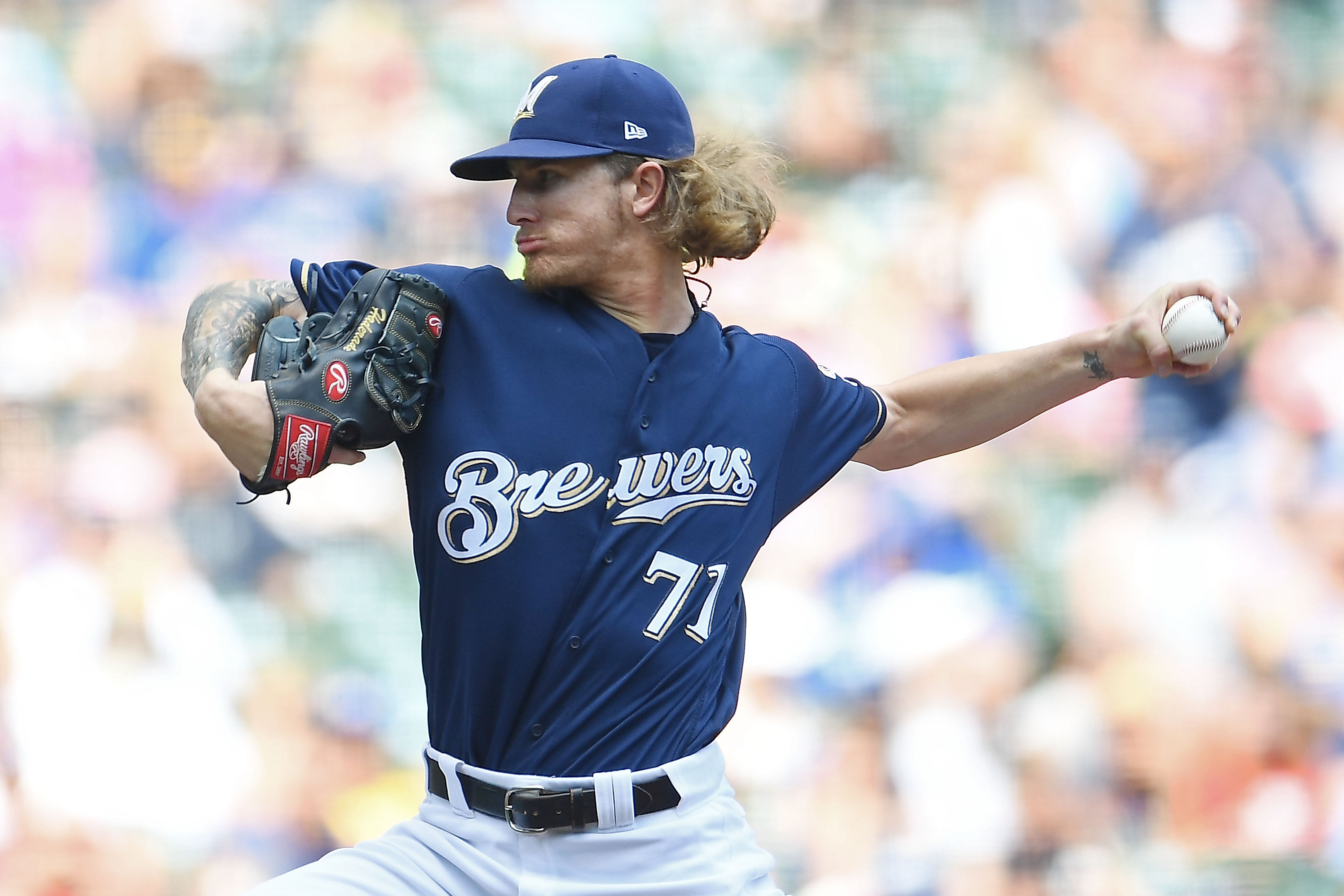 Josh Hader of the Milwaukee Brewers was at the center of a social media scandal.