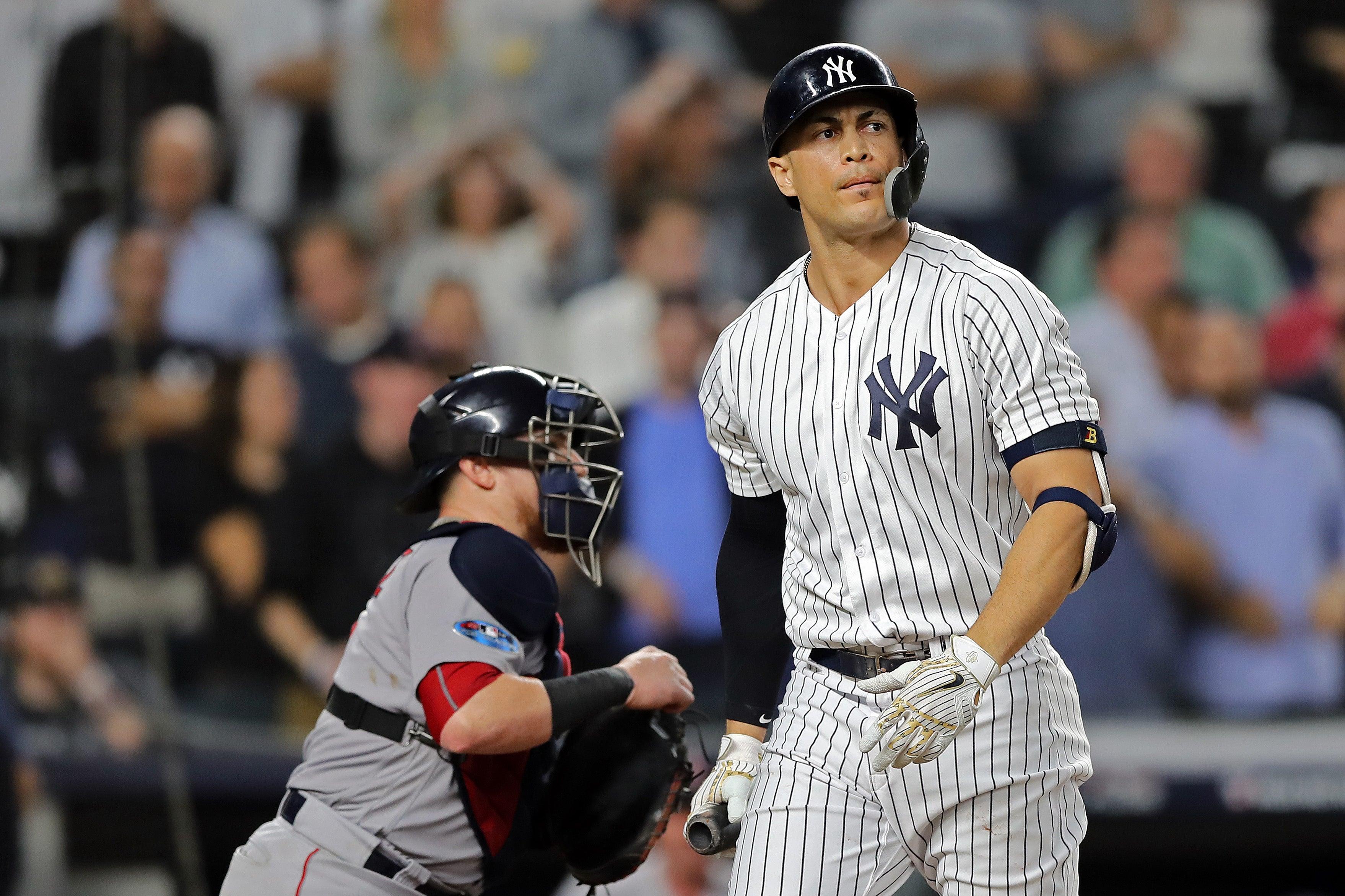 Giancarlo Stanton Yankees ALDS strikeout