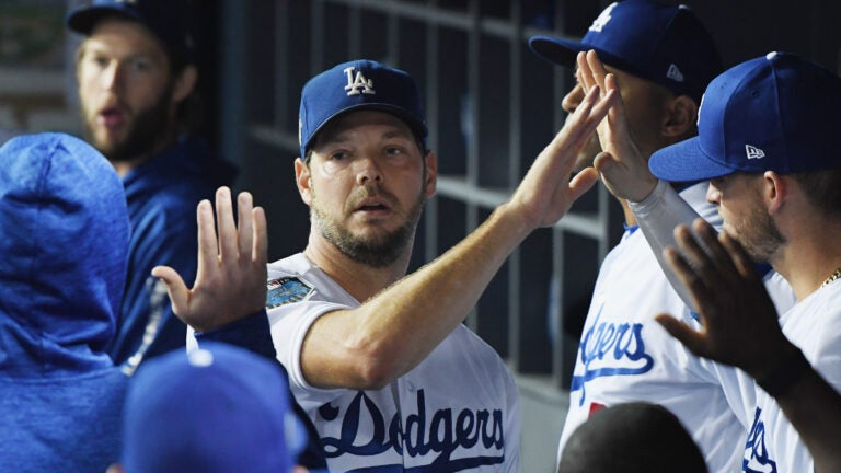 Rich Hill after he was taken out of Game 4 of the World Series.