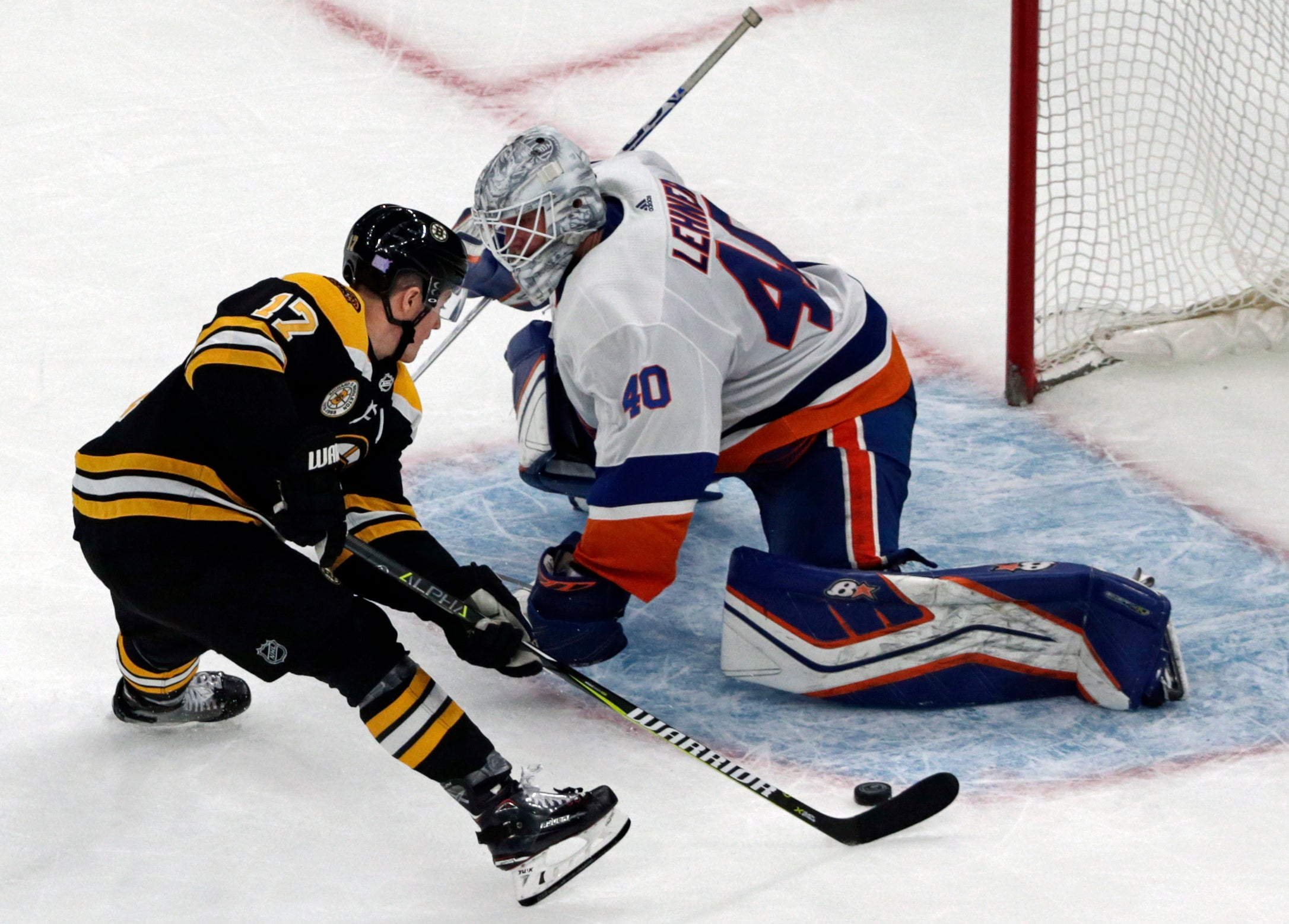 Ryan Donato scores during the shootout to give the Bruins the win.