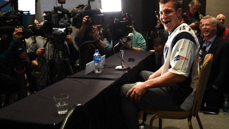 Rob Gronkowski Super Bowl Media