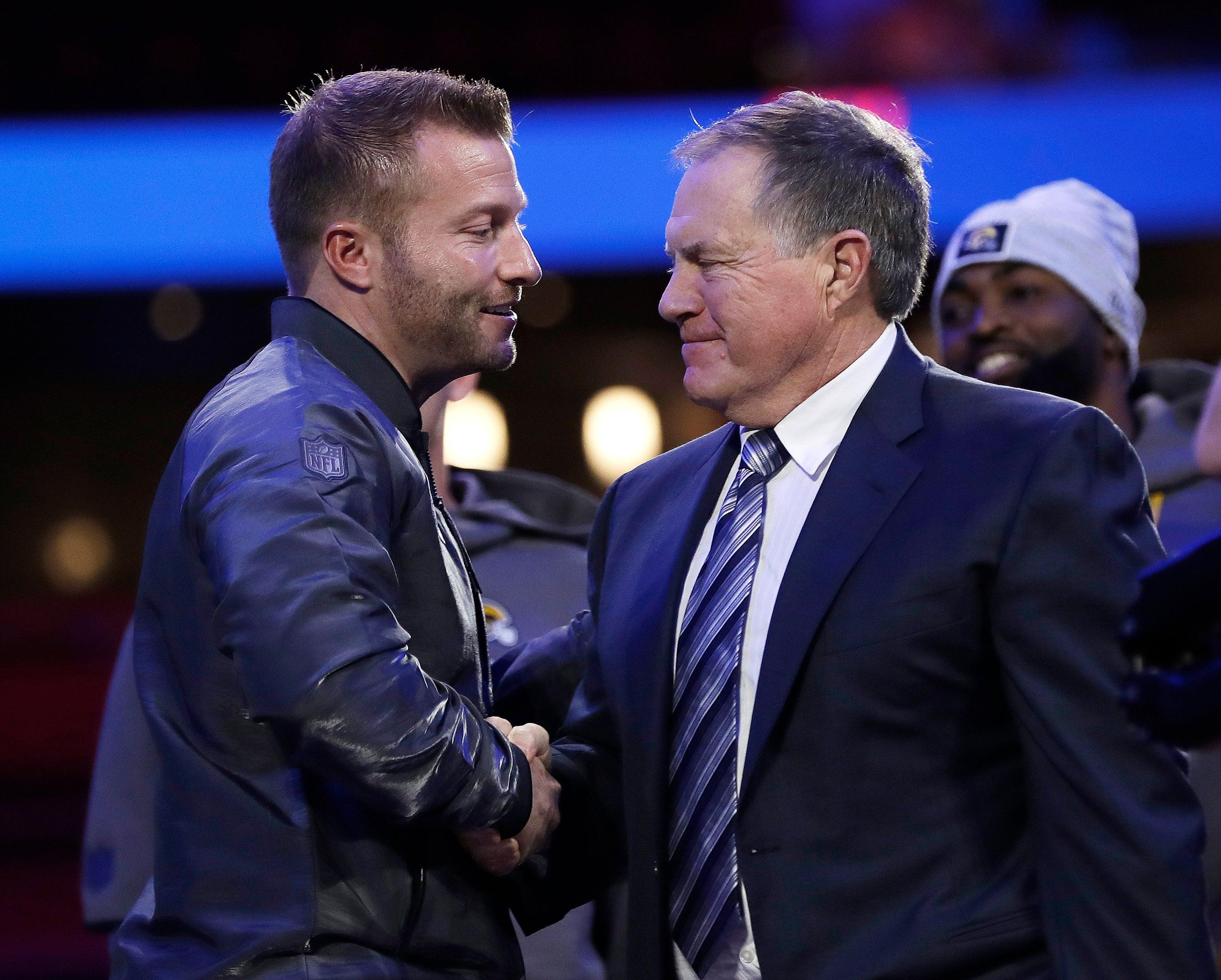 Bill Belichick Sean McVay NFL Coaches