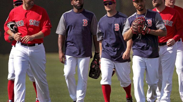 Red Sox Outfield Mookie Betts Jackie Bradley Jr. Andrew Benintendi