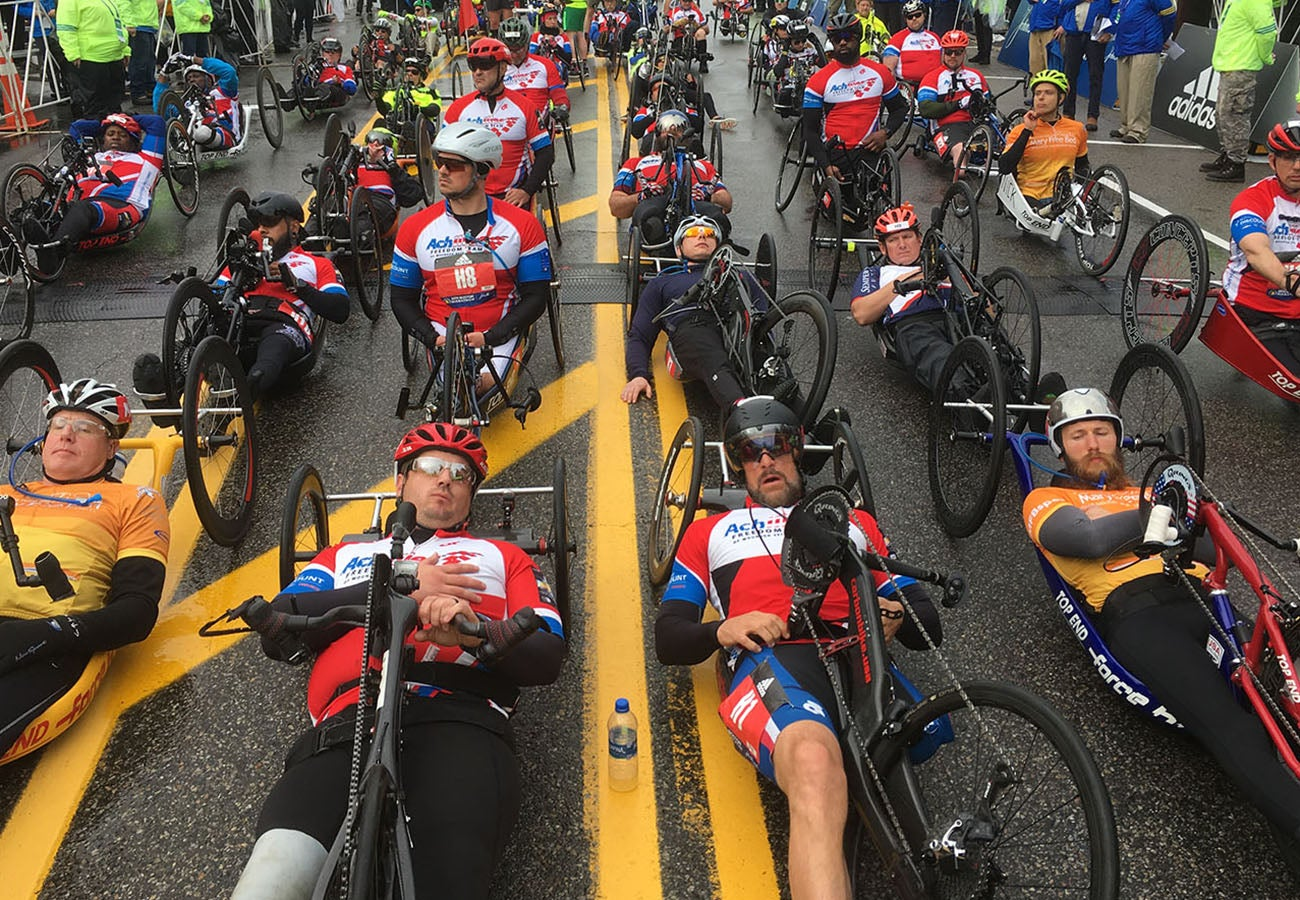 Boston Marathon Hand Cycle Racers