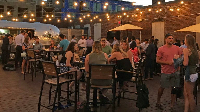 The patio at Coppersmith in South Boston