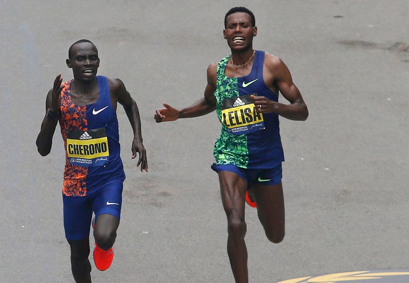 Boston Marathon 2019 Men's Finish