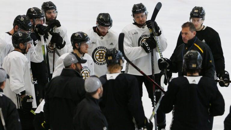 Bruce Cassidy Bruins practice