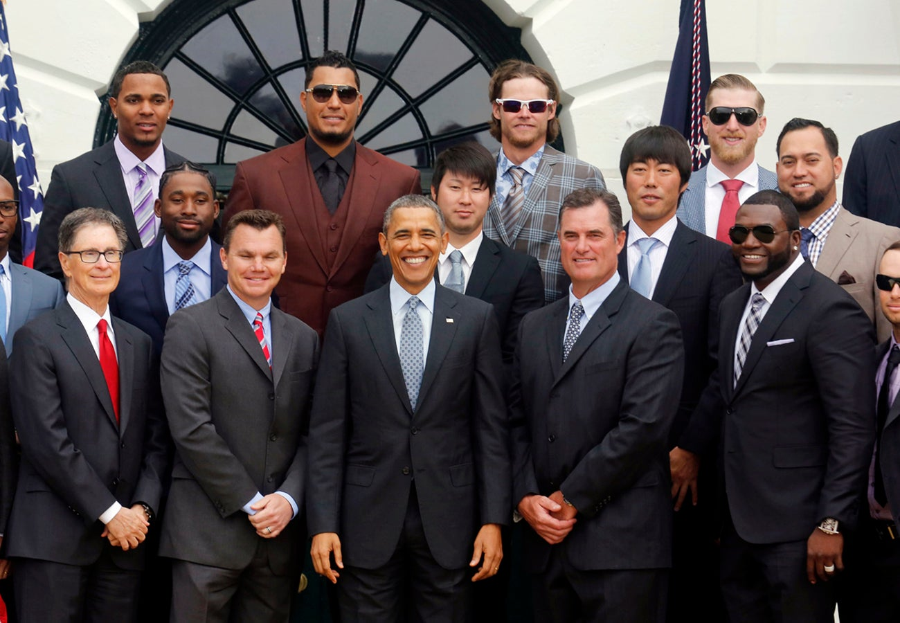 Red Sox White House visit 2013
