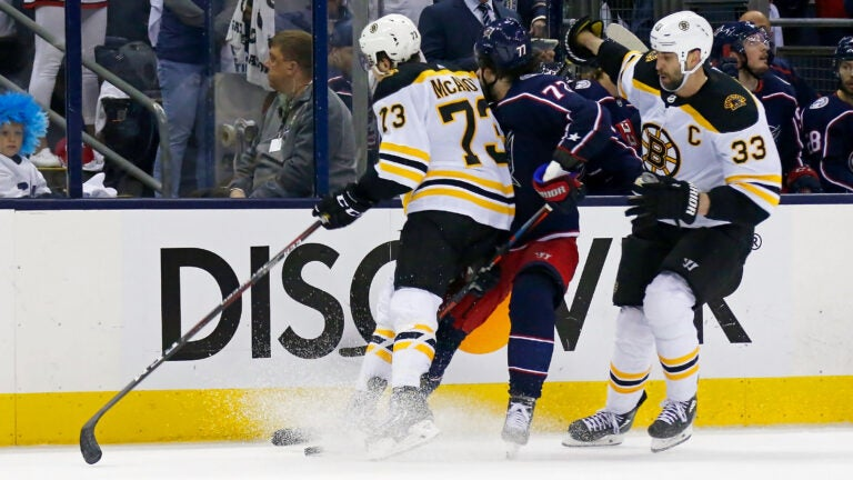 Bruins Blue Jackets Charlie McAvoy Josh Anderson