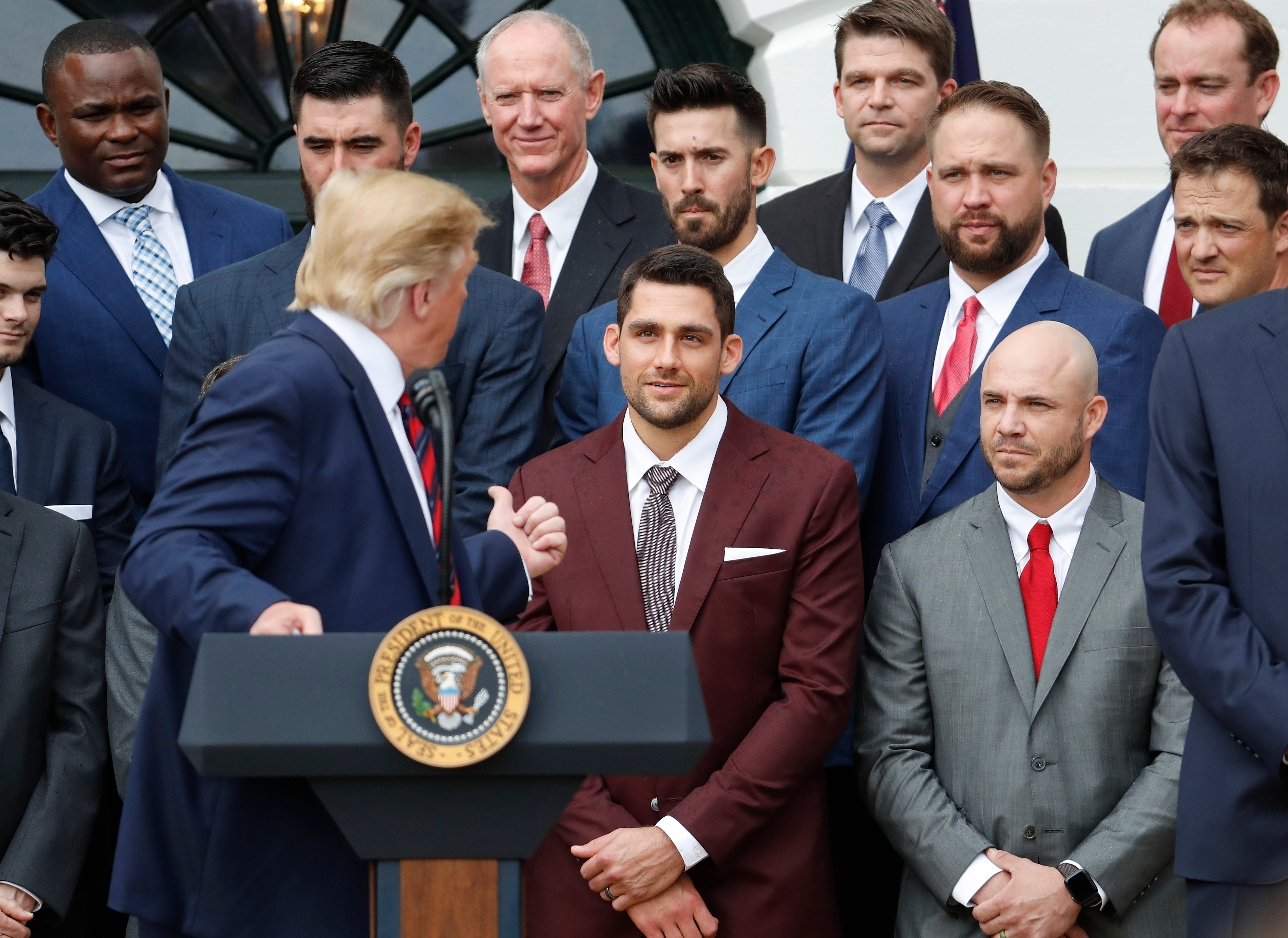 Donald Trump Red Sox White House