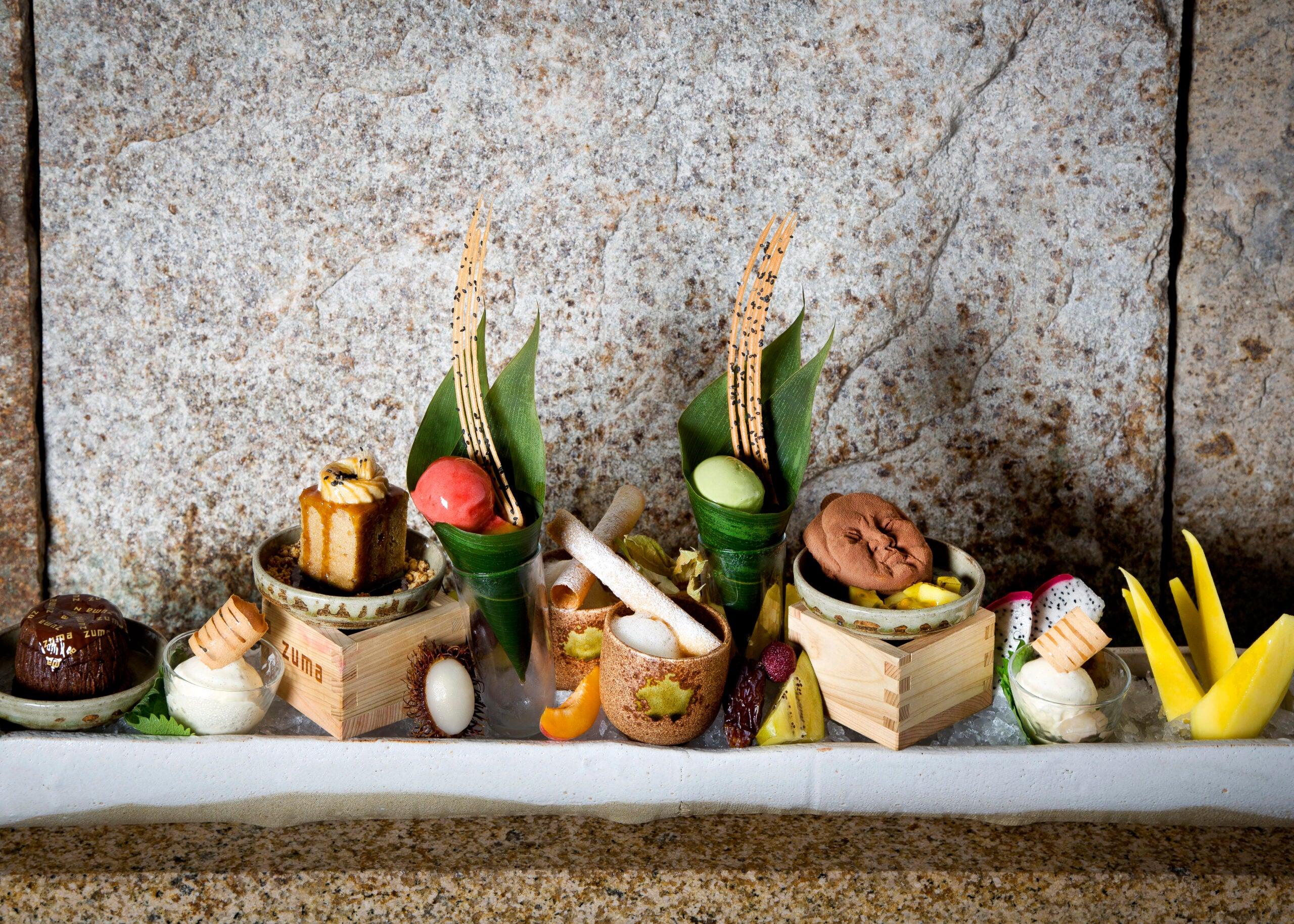 A dessert platter at Zuma