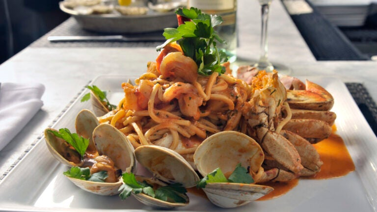 Linguini and clams at Fratelli