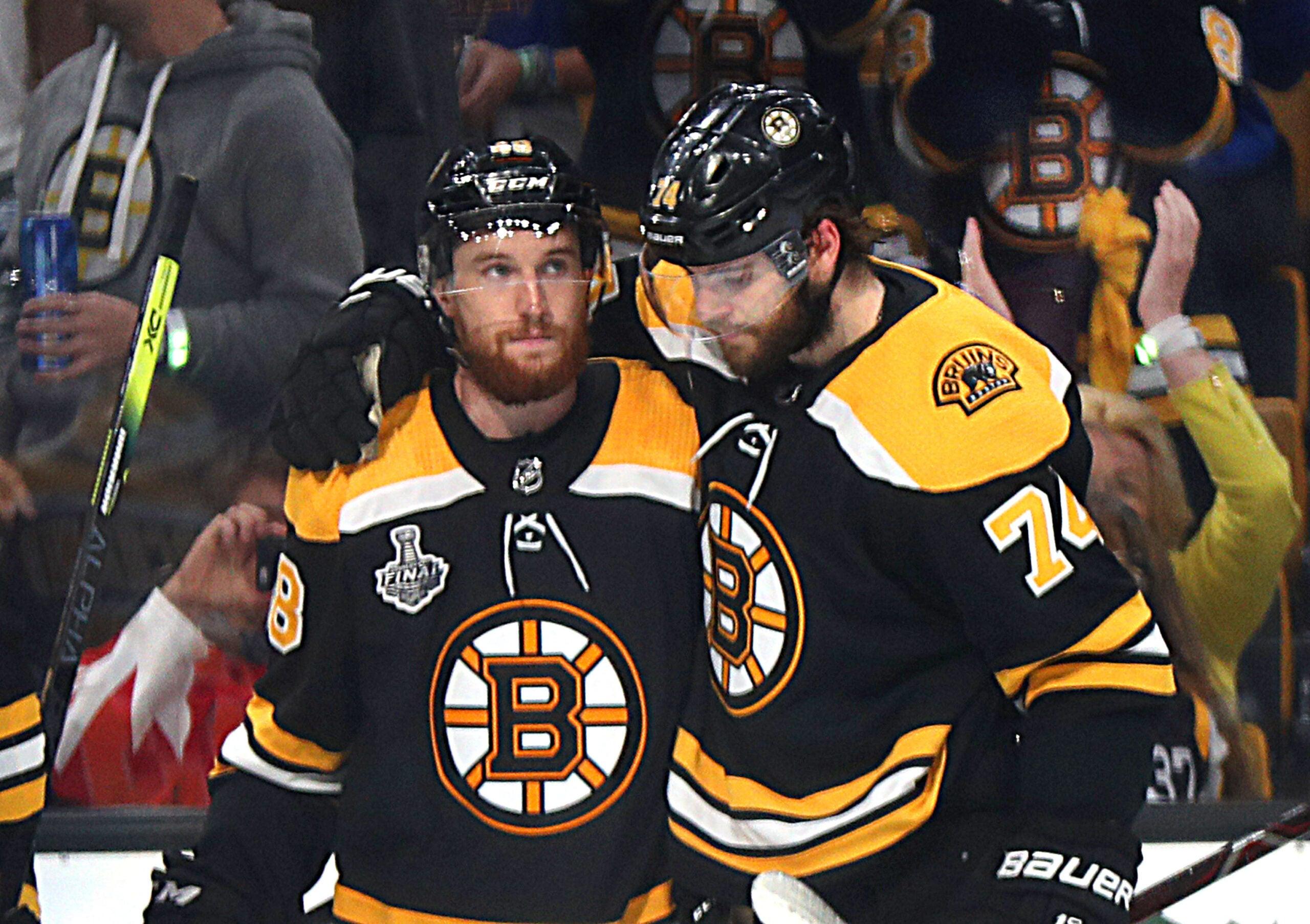 Matt Grzelcyk Jake DeBrusk Boston Bruins