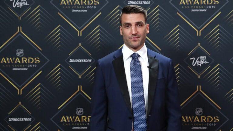 Patrice Bergeron Boston Bruins NHL Awards 2019