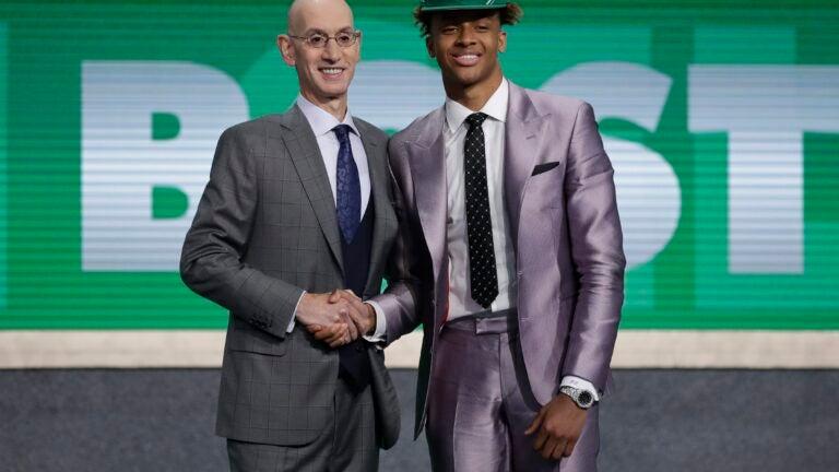 Romeo Langford Adam Silver NBA Draft