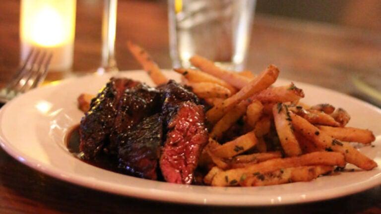 Steak frites at Navy Yard Bistro