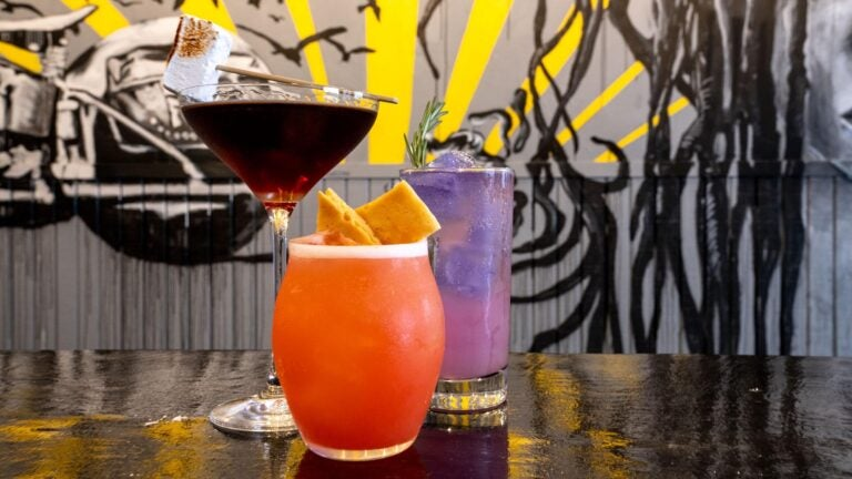 A selection of drinks at Pollo Club