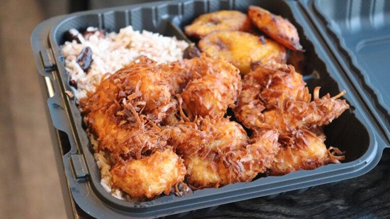 Coconut shrimp at Jamaica Mi Hungry