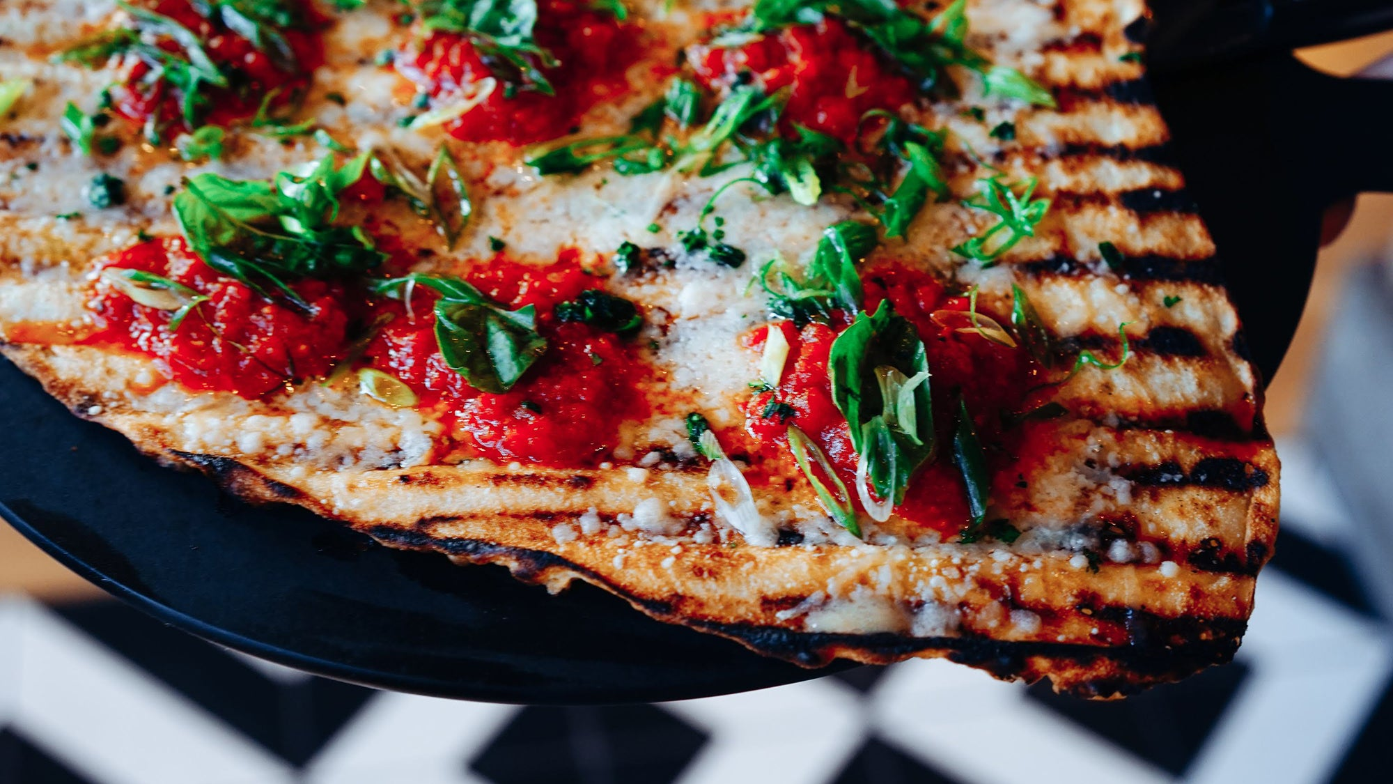 Margherita pizza at Bar 'Cino
