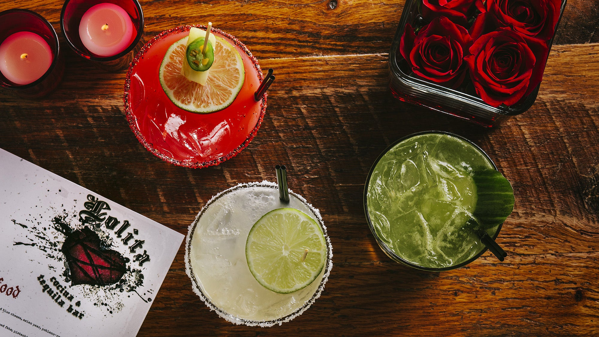 Diablo, Lolita, and spicy cucumber margaritas at Lolita Cocina & Tequila Bar